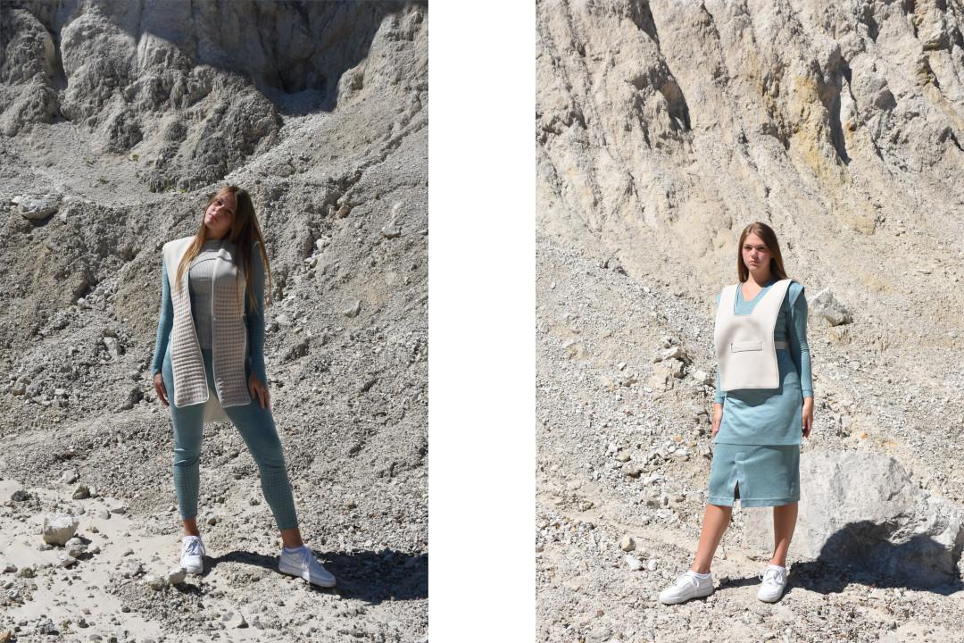 Kolekcija Pastel O-YOROI, Jan Sadek, študent Tehnologij tekstilnega oblikovanja (foto: Luka Gaber)